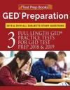 GED Preparation 2018 & 2019 All Subjects Study Questions: Three FullLength Practice Tests for GED Test Prep 2018 & 2019 (Test Prep Books)