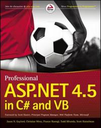 Professional ASP.NET 4.5 in C# and VB