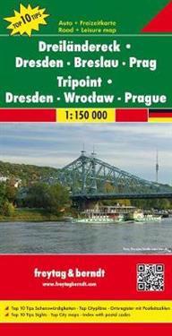Border Triangle Dresden Wroctaw Praag Maailmankartat Ja