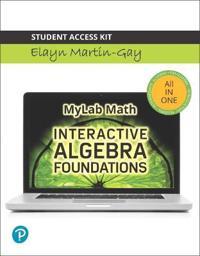 Interactive Algebra Foundations: Prealgebra, Introductory and Intermediate Algebra --Life of Edition Standalone Access Card