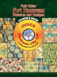 Full-Color Art Nouveau Patterns and Designs