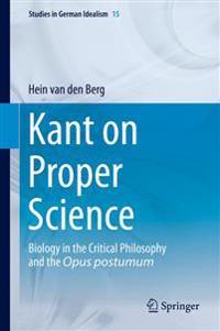 Kant on Proper Science