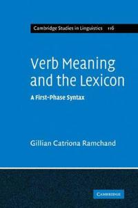 Verb Meaning and the Lexicon