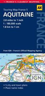 AA Touring Map France Aquitine