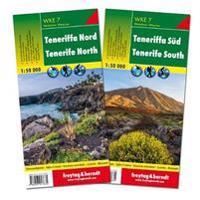 Teneriffa Nord und Süd, Wanderkarten Set 1:50.000