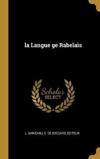 La Langue GE Rabelais