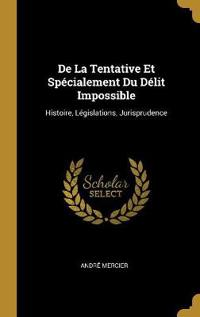 de la Tentative Et Spécialement Du Délit Impossible: Histoire, Législations, Jurisprudence