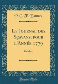 Le Journal des Sçavans, pour l'Année 1779