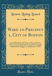 Ward 10-Precinct 1, City of Boston
