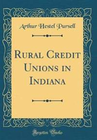 Rural Credit Unions in Indiana (Classic Reprint)