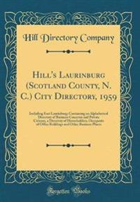 Hill's Laurinburg (Scotland County, N. C.) City Directory, 1959