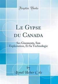 Le Gypse du Canada