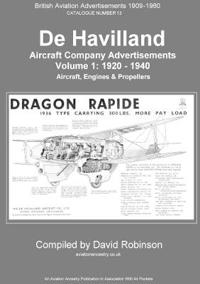 de Havilland Aircraft Company Advertisements. Volume 1