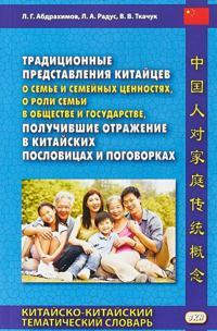 Traditsionnye predstavlenija kitajtsev o seme i semejnykh tsennostjakh, o roli semi v obschestve i gosudarstve, poluchivshie otrazhenie v kitajskikh poslovitsakh i pogovorkakh. Kitajsko-kitajskij tematicheskij slovar