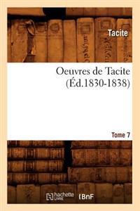 Oeuvres de Tacite. Tome 7 ( d.1830-1838)