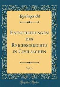 Entscheidungen des Reichsgerichts in Civilsachen, Vol. 3 (Classic Reprint)