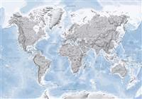 Världskarta Självlysande, väggkarta i tub