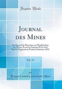 Journal des Mines, Vol. 31