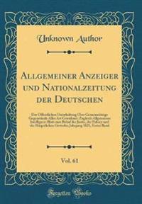 Allgemeiner Anzeiger und Nationalzeitung der Deutschen, Vol. 61