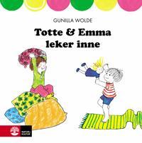 Totte och Emma leker inne