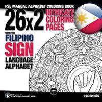 26x2 Intricate Coloring Pages with the Filipino Sign Language Alphabet