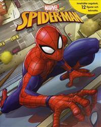 Spiderman (sagobok, figurer, lekmatta)