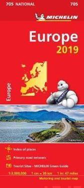 Europa 2019 Michelin 705 Karta