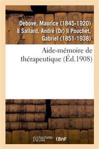 Aide-Mémoire de Thérapeutique