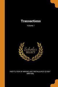 Transactions; Volume 7