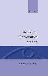 History of Universities: Volume IX: 1990