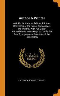 Author & Printer