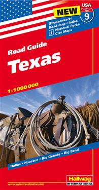 USA Texas karta nr 9 Hallwag : 1:1milj