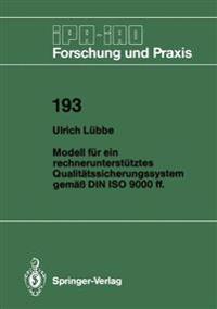 Modell F r Ein Rechnerunterst tztes Qualit tssicherungssystem Gem   Din ISO 9000 Ff.