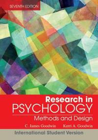 Research In Psychology: Methods and Design, 7th Edition International Stude
