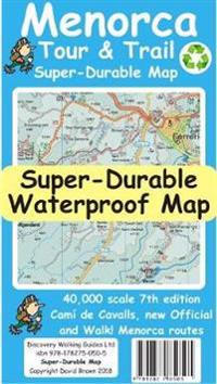 Menorca Tour & Trail Super-Durable Map (7th edition)