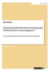 Nicht-finanzielle Berichterstattung gemäß CSR-Richtlinie-Umsetzungsgesetz