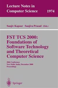 FST TCS 2000: Foundations of Software Technology and Theoretical Science