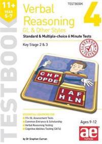 11+ Verbal Reasoning Year 5-7 GL & Other Styles Testbook 4