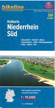 Bikeline Radkarte Niederrhein Süd 1 : 75 000