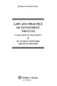 Law and Practice of Investment Treaties