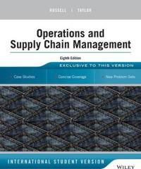 Operations Management: Creating Value Along the Supply Chain, 8th Edition I