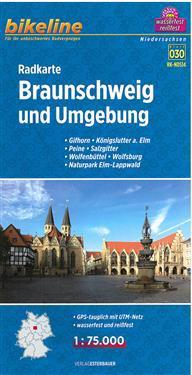 Bikeline Radkarte Braunschweig und Umgebung 1 : 75.000