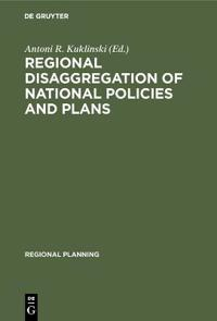 Regional disaggregation of national policies and plans