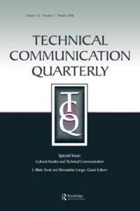 Technical Communication Quarterly , Cultural Studies And Technical Communication