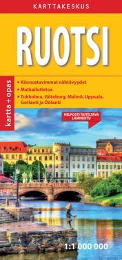Ruotsi Kartta Opas 1 1 000 000 Kirjat Kartta Viikattu