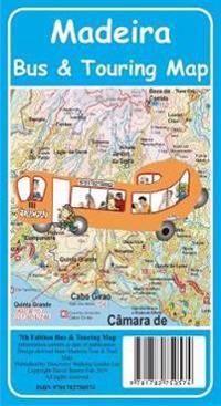 Madeira Bus Touring Map 7th Edition David Brawn Kartta