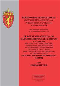 Personopplysningsloven ; Europaparlaments- og rådsordning (EU) 2016/679 av 27. april 2016 : om vern av fysiske personer i forbindelse med behandling av personopplysninger og om fri utveksling av slike opplysninger samt om oppheving av direktiv 65/46/EF : (generell personvernforor -  pdf epub