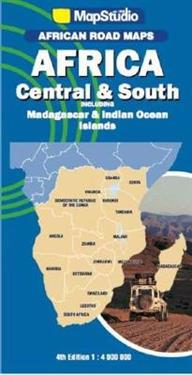 African Road Maps Africa Central South Map Studio Kartta
