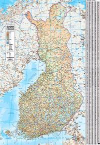 Suomi Seinakartta 1 1 Milj 2018 83x120 Cm Suomi Kartta