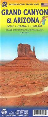 Grand Canyon 1 90 000 And Arizona Travel Reference Map 1 1 000 000